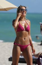 Sylvie Meis In bikini On the beach in Miami