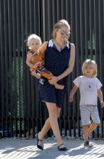 Teresa Palmer Strolling with her 2 kids in Hollywood