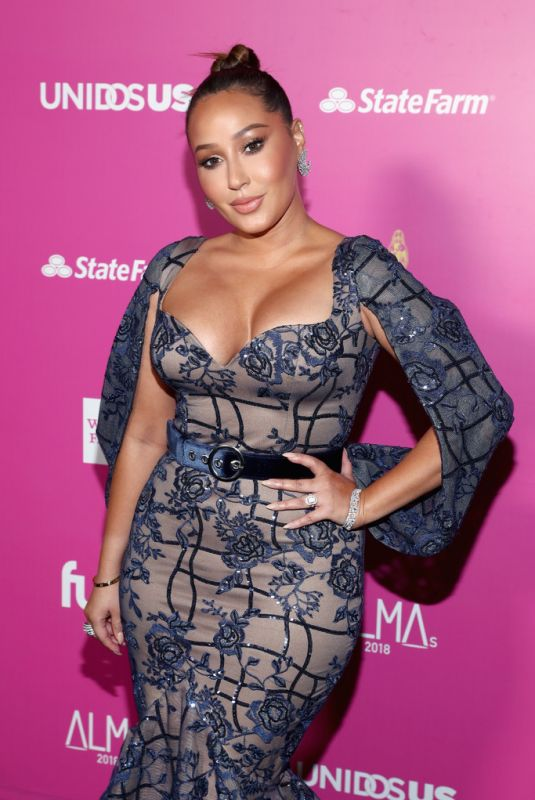 Adrienne Bailon Houghton At ALMAs 2018 LIVE On Fuse in Los Angeles