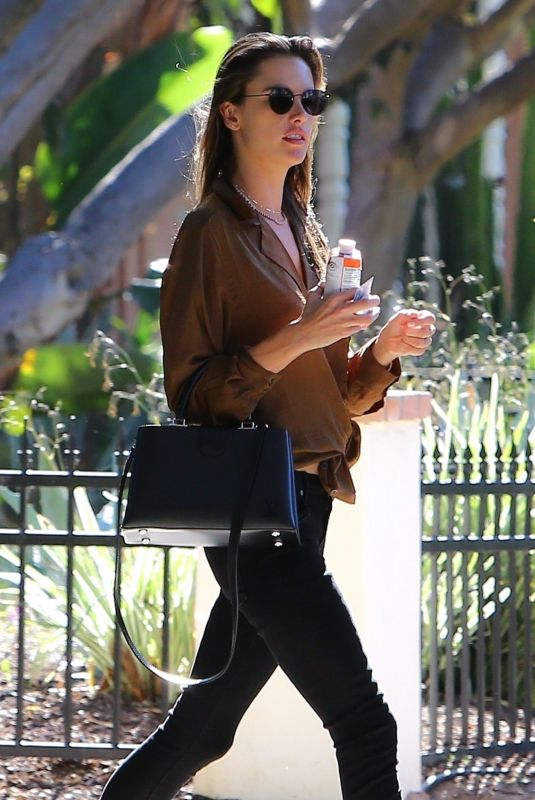 Alessandra Ambrosio Heads to a meeting at Petit Ermitage in West Hollywood