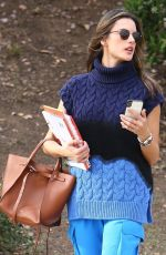 Alessandra Ambrosio Went straight from Smashbox Studios in Pacific Palisades
