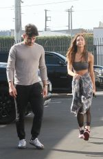 Alexis Ren Outside Dancing With The Stars rehearsal studios in Los Angeles