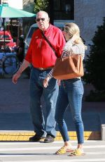 Ali Larter Spends her Saturday out with her dad Danforth Larter and her son Theodore Hayes MacArthur, Pacific Palisades