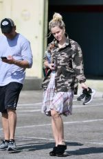Alice Eve During gym session with her personal trainer in Los Angeles