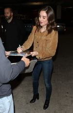 Alison Brie Signs autographs for the fans outside ArcLight Theatre in Hollywood