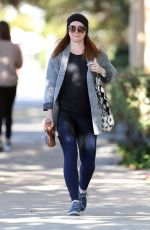 Alyson Hannigan Showed a slimmer figure after pilates in Santa Monica