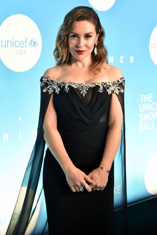 Alyssa Milano At 14th Annual UNICEF Snowflake Ball in New York