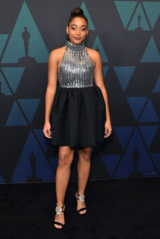 Amandla Stenberg At 10th annual Governors Awards in Hollywood