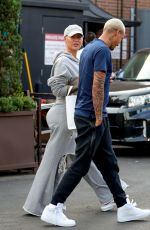 Amber Rose During a lunch outing with a friend at Il Pastaio in Beverly Hills