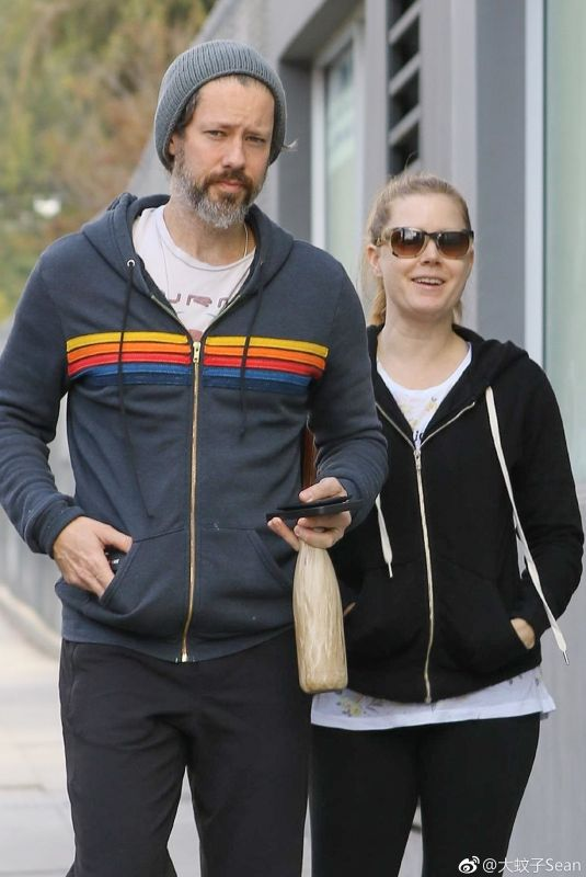 Amy Adams and her husband after hitting the gym together in LA