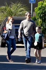 Amy Adams And husband take their daughter bowling in Studio City