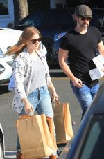 Amy Adams Leaving a voting booth with husband in West Hollywood