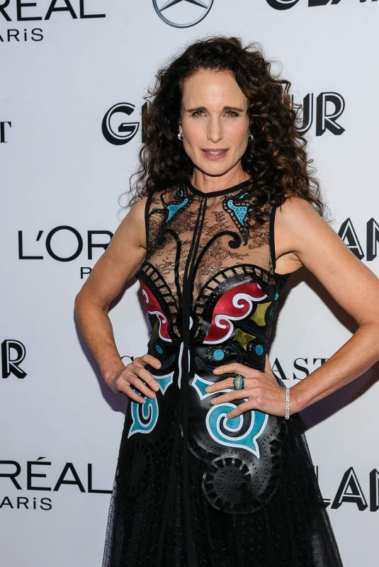 Andie MacDowell At 2018 Glamour Women of the Year Awards at Spring Studios, New York