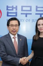 Angelina Jolie Meeting with Justice Minister Park Sang-ki