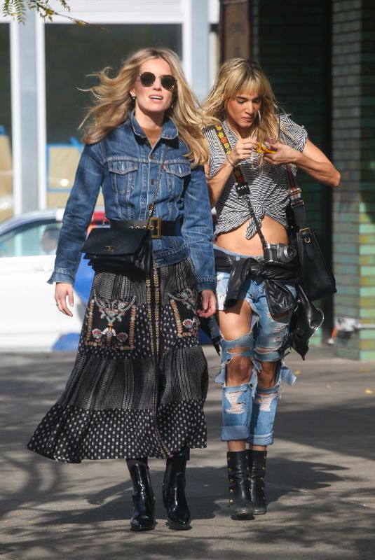 Annabelle Wallis and Sofia Boutella Spotted on a stroll in New York City
