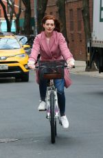 Anne Hathaway Filming her new TV series Modern Love in New York