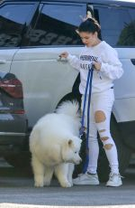 Ariel Winter Taking her dog to the vet in Studio City