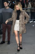 """Ashley Tisdale In as she leaves the """"Good Morning America"""" show in NYC"""