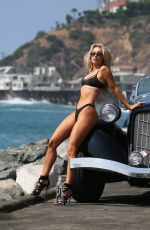 Aubrey Evans On the set of her latest 138 Water Photoshoot in Malibu