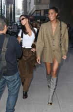 Bella Hadid & Cindy Bruna Outside Victoria