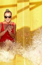 Billie Faiers In the Emirates sunshine at a water park in Dubai