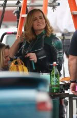 Brie Larson Suits up to re-shoot scenes for