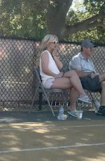 Britney Spears Watching her son play football in Los Angeles