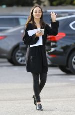 Cara Santana Layers up in all black during an errand run ahead of the weekend in LA