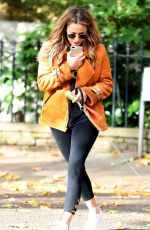 Caroline Flack Out and about, London