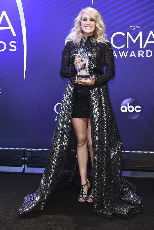 Carrie Underwood At 52nd annual CMA Awards (Press Room) at Bridgestone Arena in Nashville
