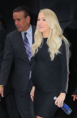 Carrie Underwood Leaving Good Morning America in New York City