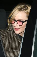Cate Blanchett Leaving the SOHO Hotel in London