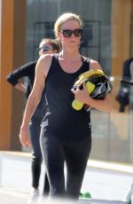 Charlize Theron Outside SoulCycle in Los Angeles