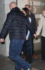Cheryl Tweedy At Escorted out of Radio 1 surrounded by security in London