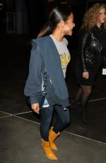 Christina Milian At Night out at the Staples Center in Los Angeles for the Lakers game