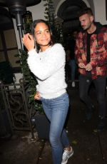 Christina Milian Leaving Madeo restaurant in Beverly Hills