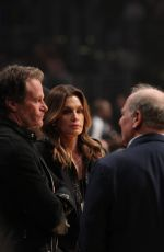 Cindy Crawford At the Los Angeles Lakers vs. Portland Trail Blazers game with Rande Gerber in LA