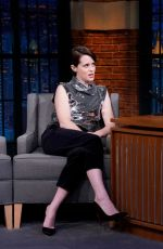 Claire Foy During an interview with host Seth Meyers