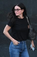 Courteney Cox Leaving a nail salon with a friend during an afternoon out in Beverly Hills