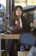 Dakota Johnson Stopping by a juice shop in Los Angeles