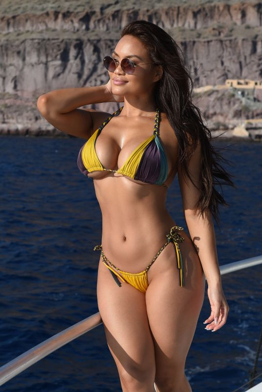 Daphne Joy On a recent work trip modelling bikini