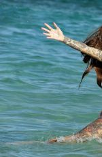 Darylle Sargeant In the sea during Spanish getaway to Spain