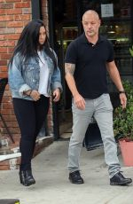 Demi Lovato Stops for coffee following a workout in Los Angeles