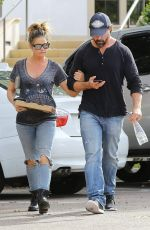 Denise Richards Have a pizza date in Calabasas