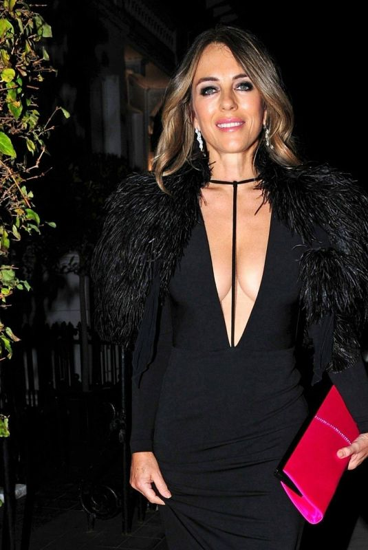 Elizabeth Hurley At Night Out In London Celebzz