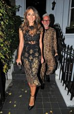 Elizabeth Hurley At night out in London