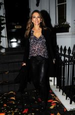 Elizabeth Hurley Leaving her house in London