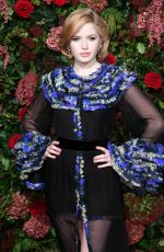 Ellie Bamber At Evening Standard Theatre Awards, London