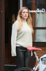 Ellie Goulding Photographed leaving Saint Ambroeus, Soho today in New York City