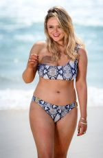 Emily Atack At photoshoot on the beach at Surfers Paradise in Queensland